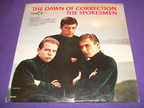 "The Spokesmen / Dawn Of Correction / RARE 12"" Vinyl LP Record / Decca DL 4712  THUGS back then ??"