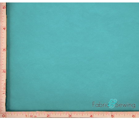 Teal Blue Tulle Illusion Knit Fabric Nylon 108""