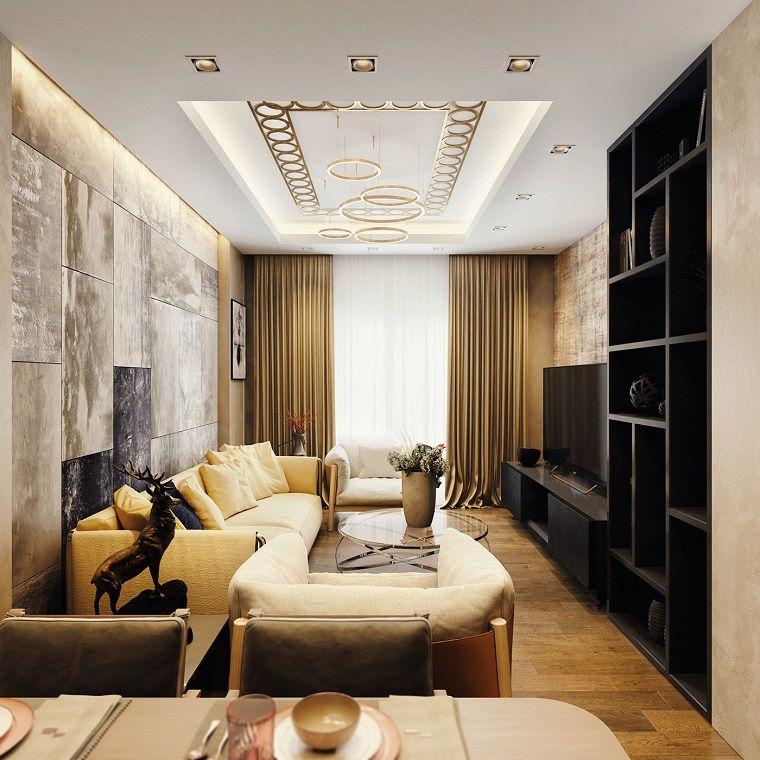 Arredare salotto e sala da pranzo insieme con mobili di for Arredamento sala da pranzo e salotto