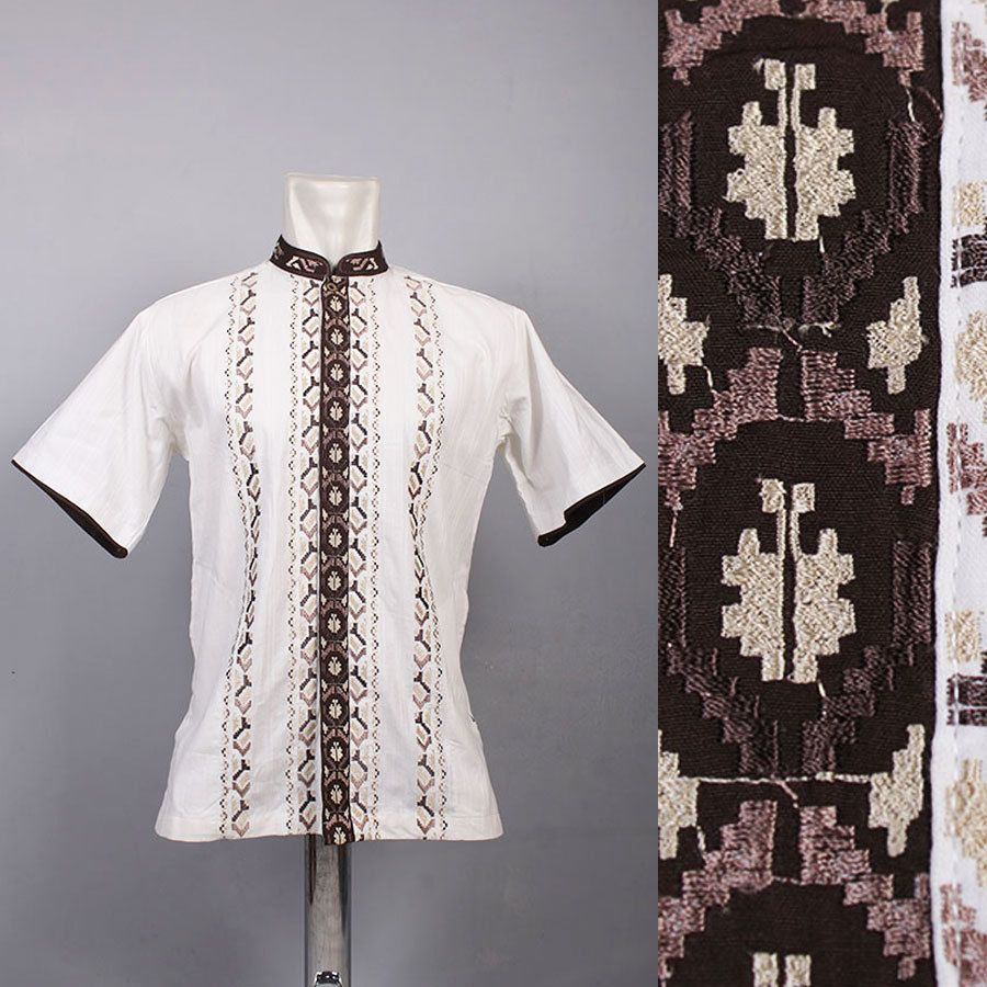Very cool moroccan mens kaftan embroidery shirt top quality cotton