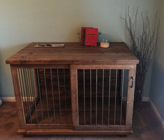 Beau Custom Sliding Door Dog Kennel Crate Coffee Or Entry Table