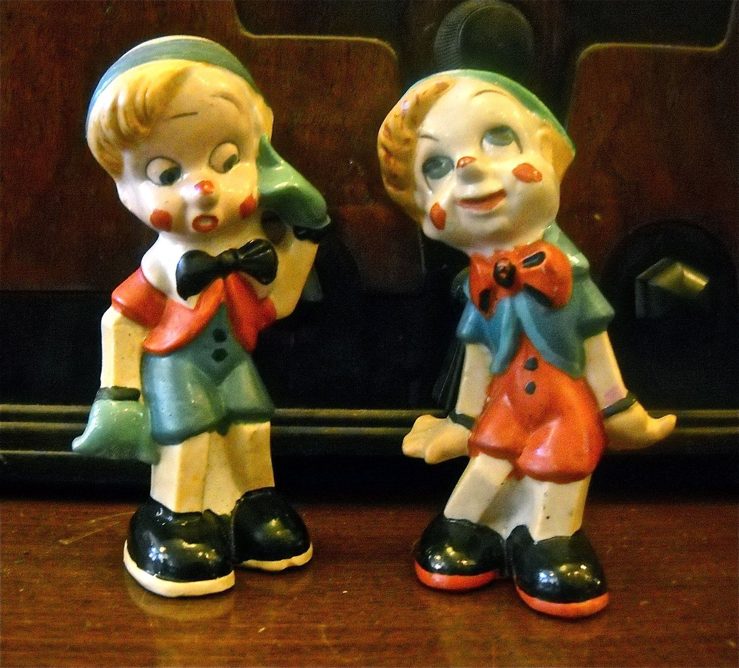 Vintage Japan Pinocchio Salt and Pepper Shakers.