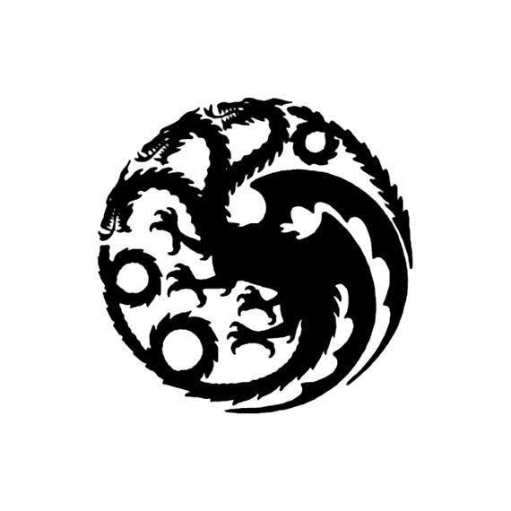 House Targaryen Dragon Logo Game Of Thrones