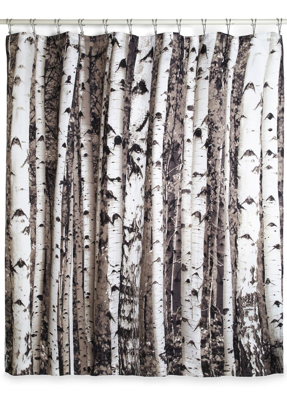 Birch Shower Curtain Rustic Shower Curtains Curtains Tree