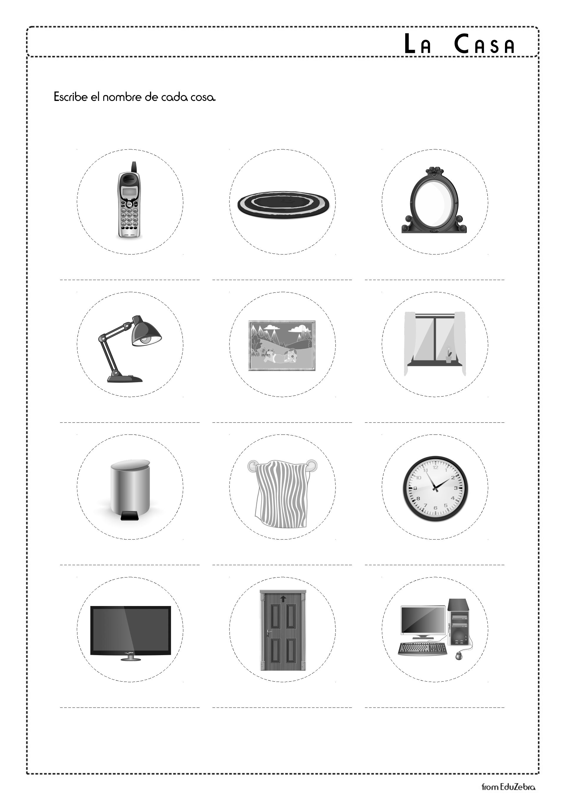 Household Items In Spanish