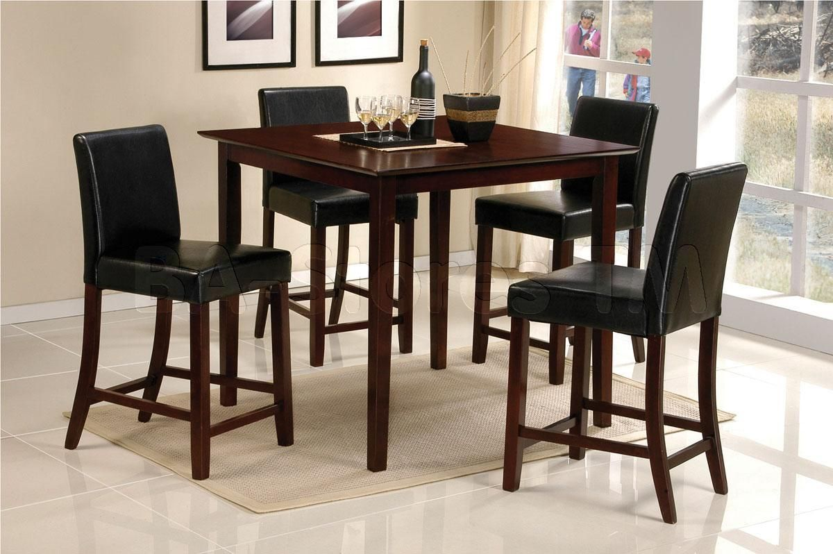 Mina Square Counter Height Dining Set (Table And 4 Chairs)   Acme Furniture