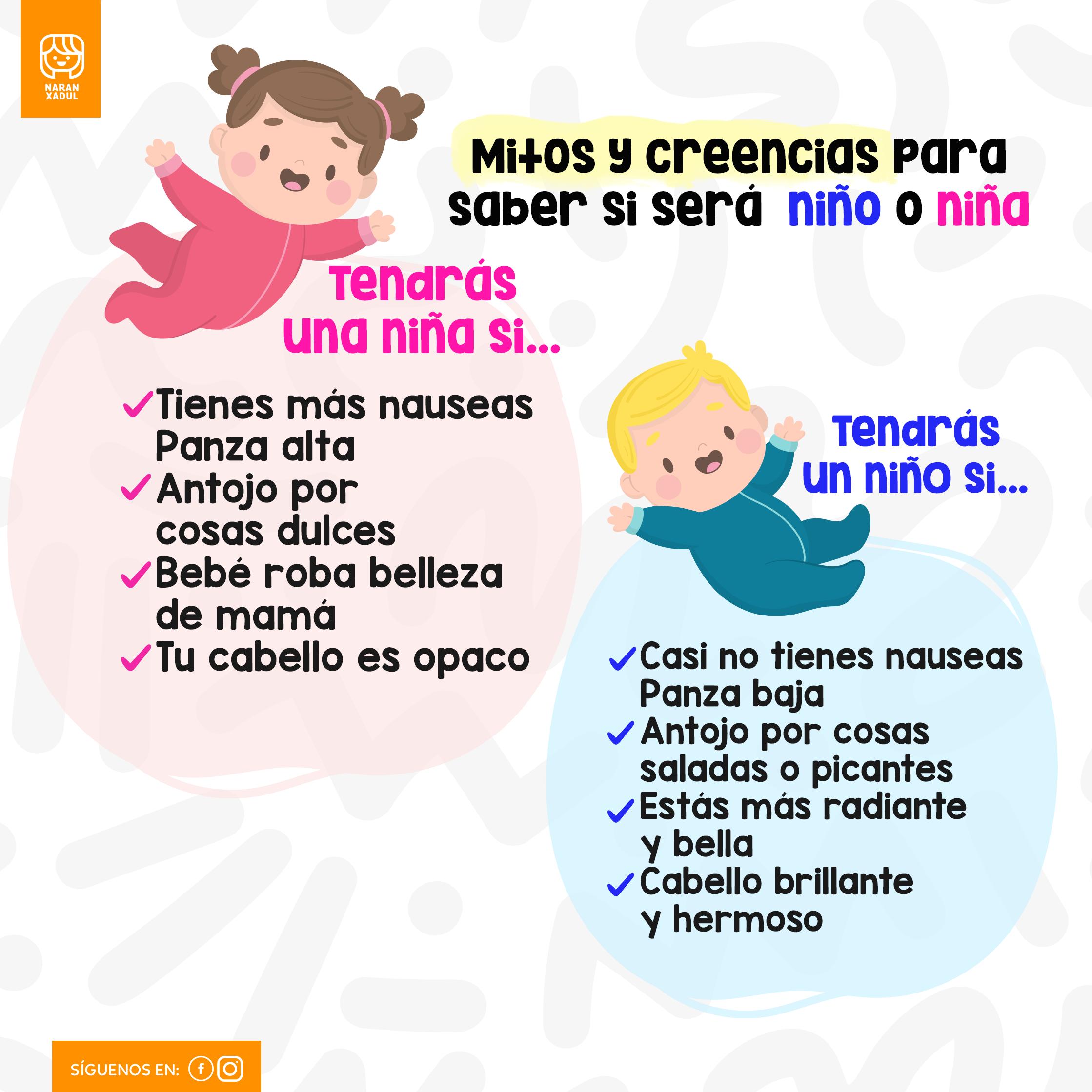 Mitos Y Creencias Para Saber Si Será Niño O Niña Vida De Mamá Nauseas Niños
