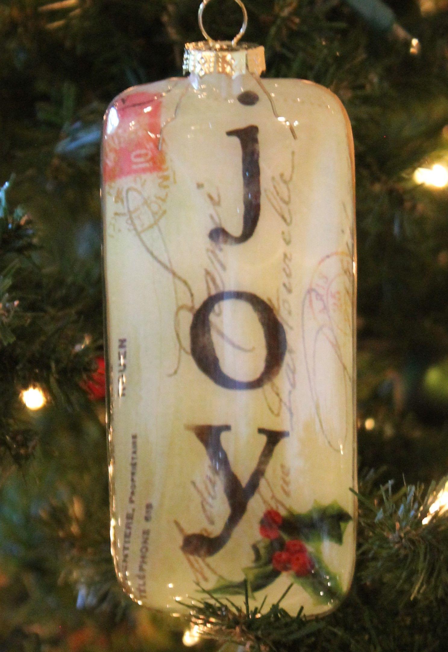 5 5 Glass Joy Christmas Ornament Christmas Ornaments Ornaments Christmas Decorations Ornaments