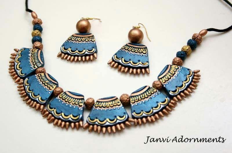 Janvi adornments terracotta jewellery designs pinterest janvi adornments terracotta jewelleryjewellery designsdiypolymersfai solutioingenieria Images