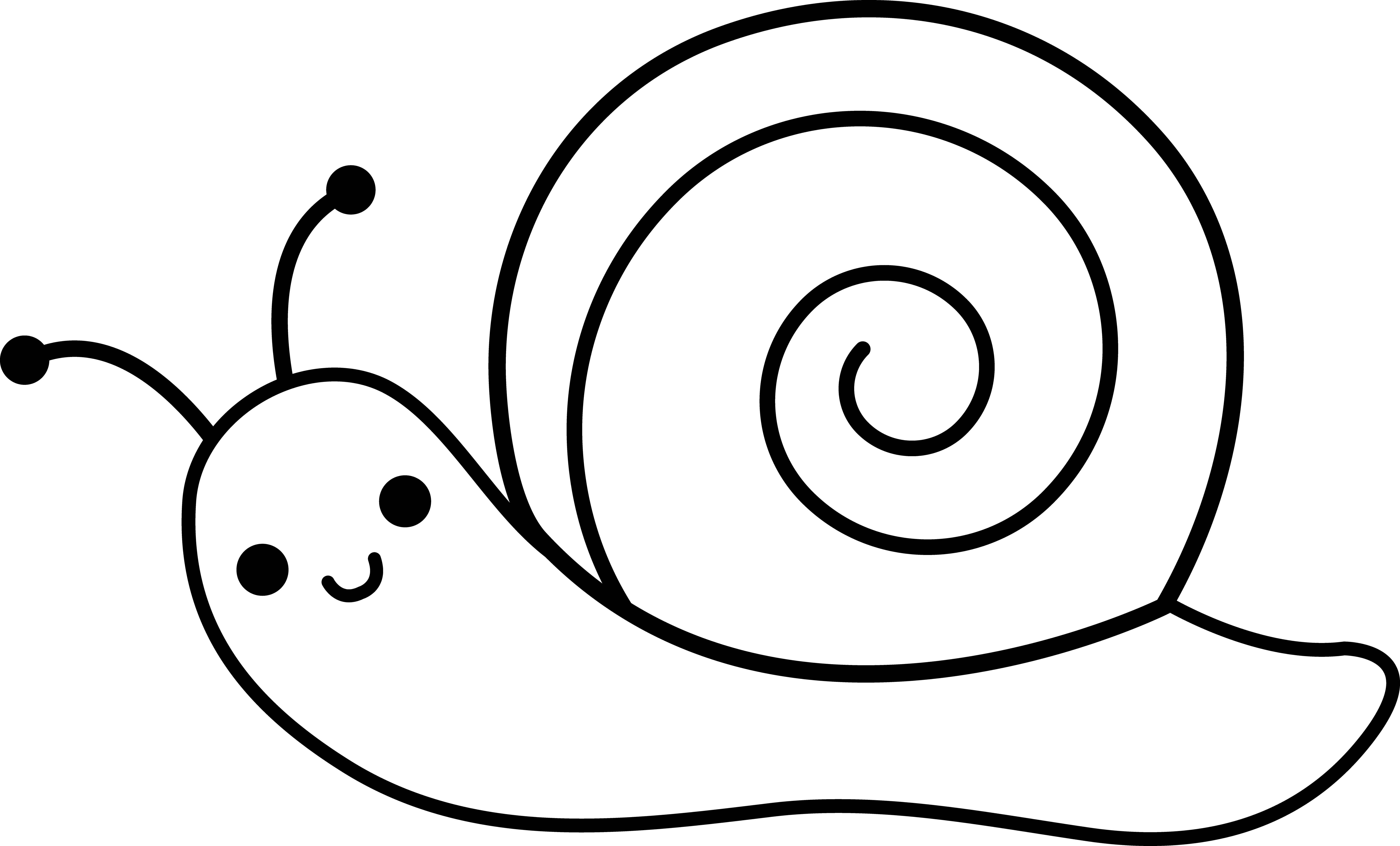 Line Art Snail Easy Drawings