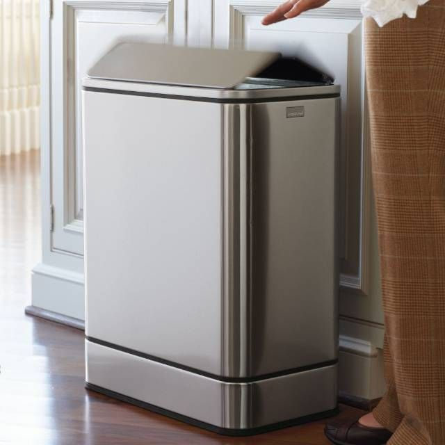 Our simplehuman    Butterfly Sensor Trash Can upgrades your kitchen with…