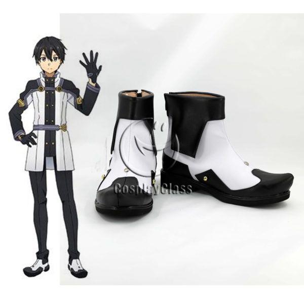 Sword Art Online Ordinal Scale Kirigaya Kazuto Kirito Cosplay Shoes Boots Custom Made