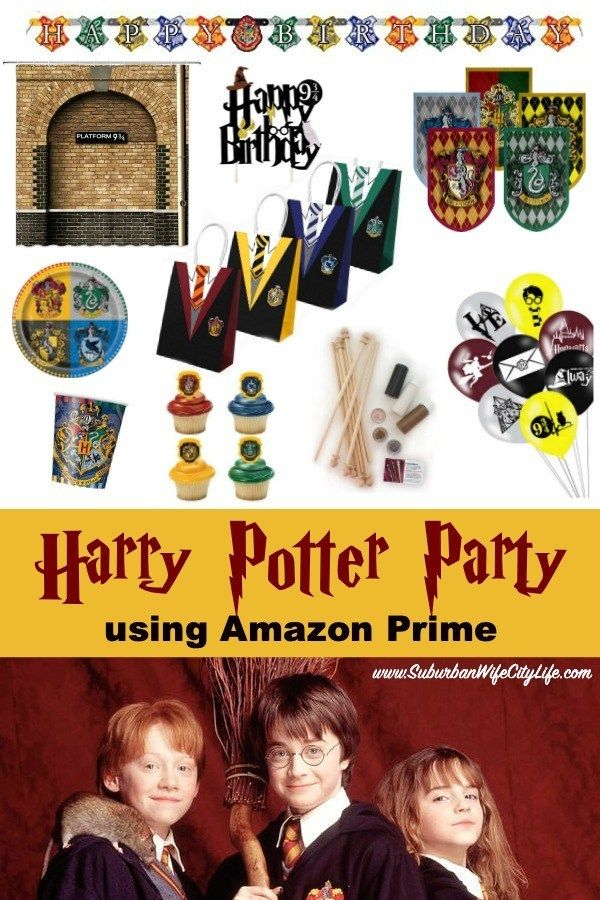 Harry Potter Party Using Amazon Prime Harry Potter Party Supplies Harry Potter Party Harry Potter Party Decorations