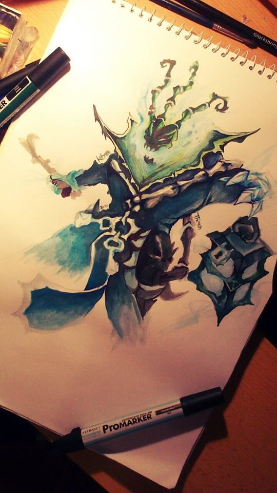 League of legends: Thresh by Kytru. Don't play this but I love the art!!!