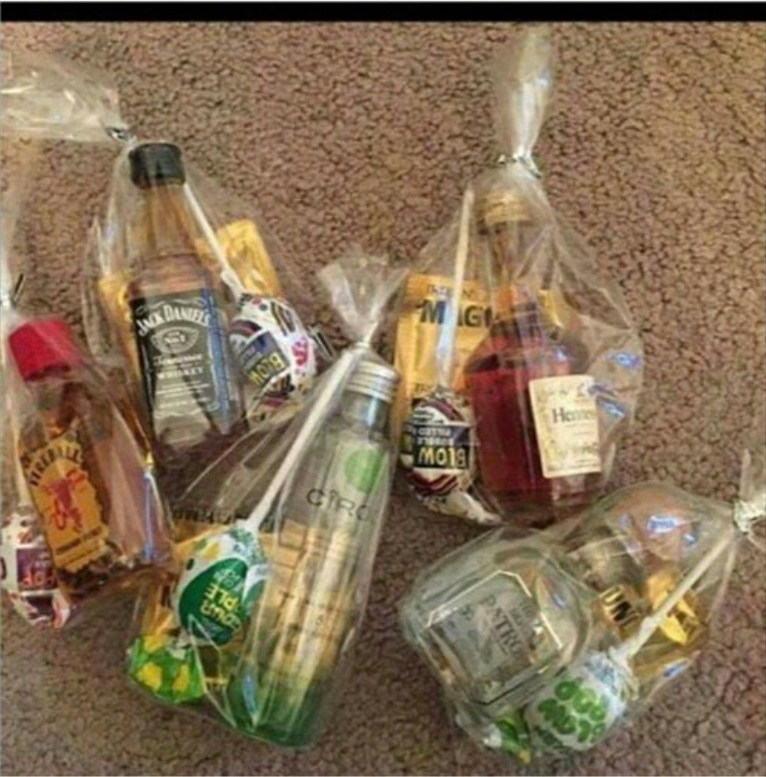 Adult trick or treat bags. Party favors for adults