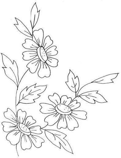 Plantillas De Flores Para Bordar A Mano Flor Pinte