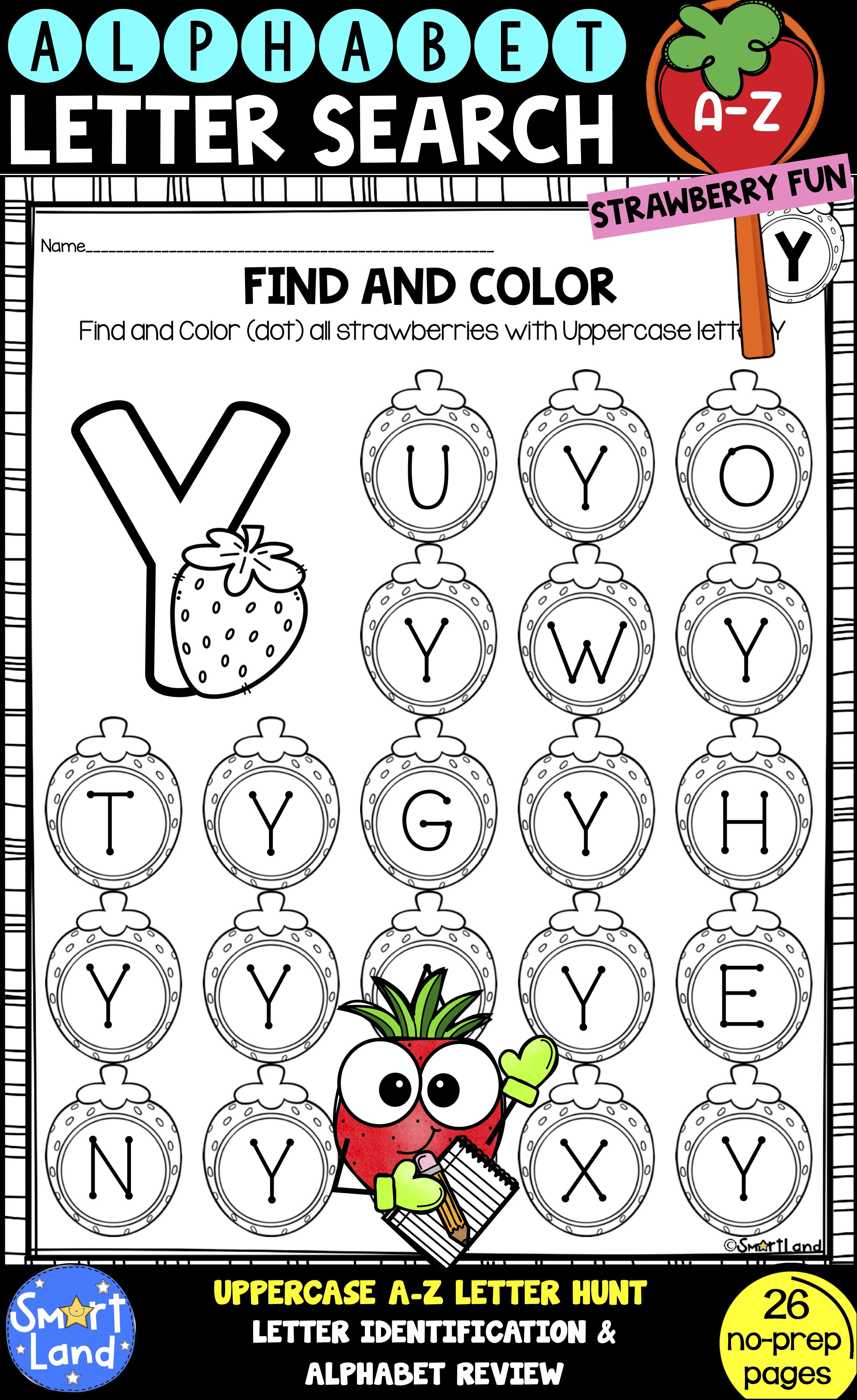 Alphabet Practice Letter Search Strawberry Fun In