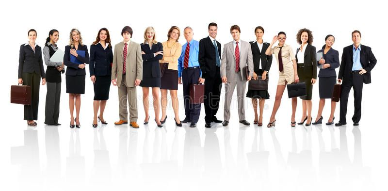 Business People Group Of Business People Isolated Over White