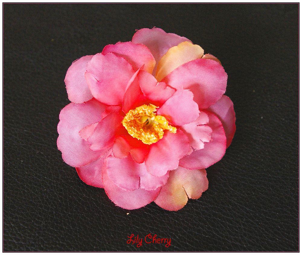 fleur artificielle petite fleur de pêcher nuance rose, saumon