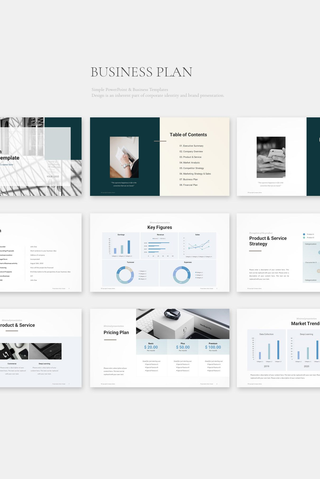 Business Plan PowerPoint Template Business