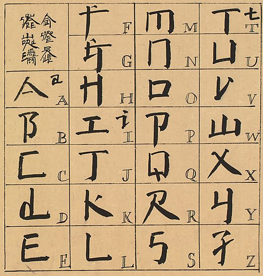 An introduction to square word calligraphy by xu bing