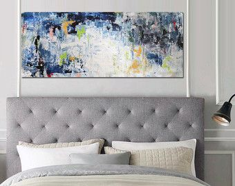 LARGE ABSTRACT Painting Free Shipping Large By ObaidAbstractArt