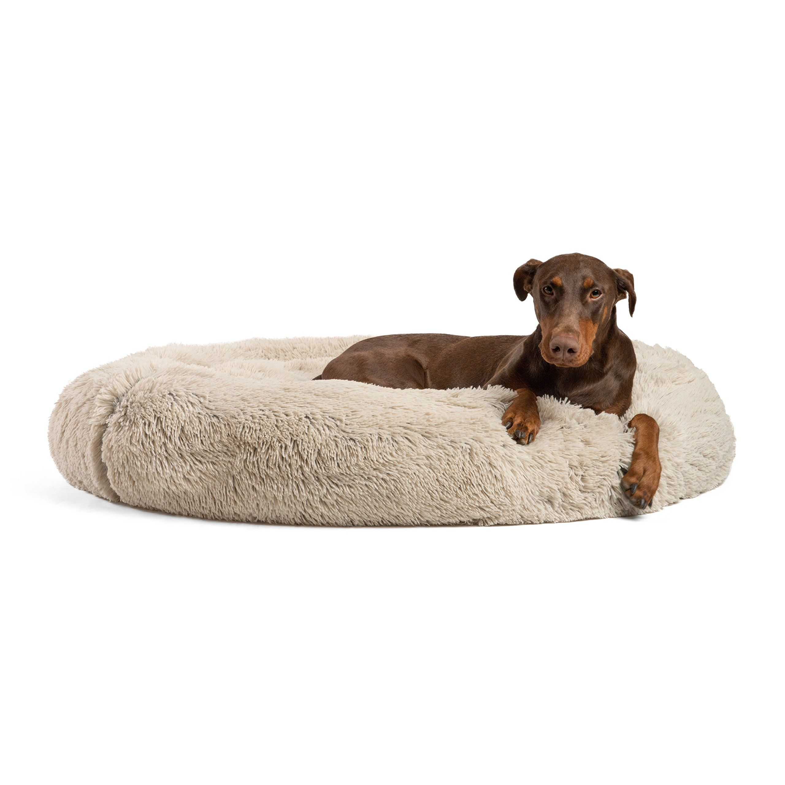 Best Friends By Sheri Luxury Shag Fur Donut Cuddler 45a Taupe A