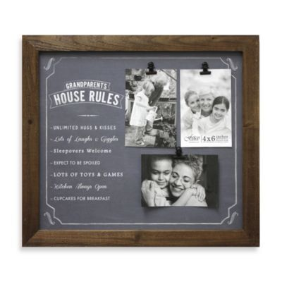 Fetco Home Décor Gourmet Grandparents House Rules 3-Opening Photo ...