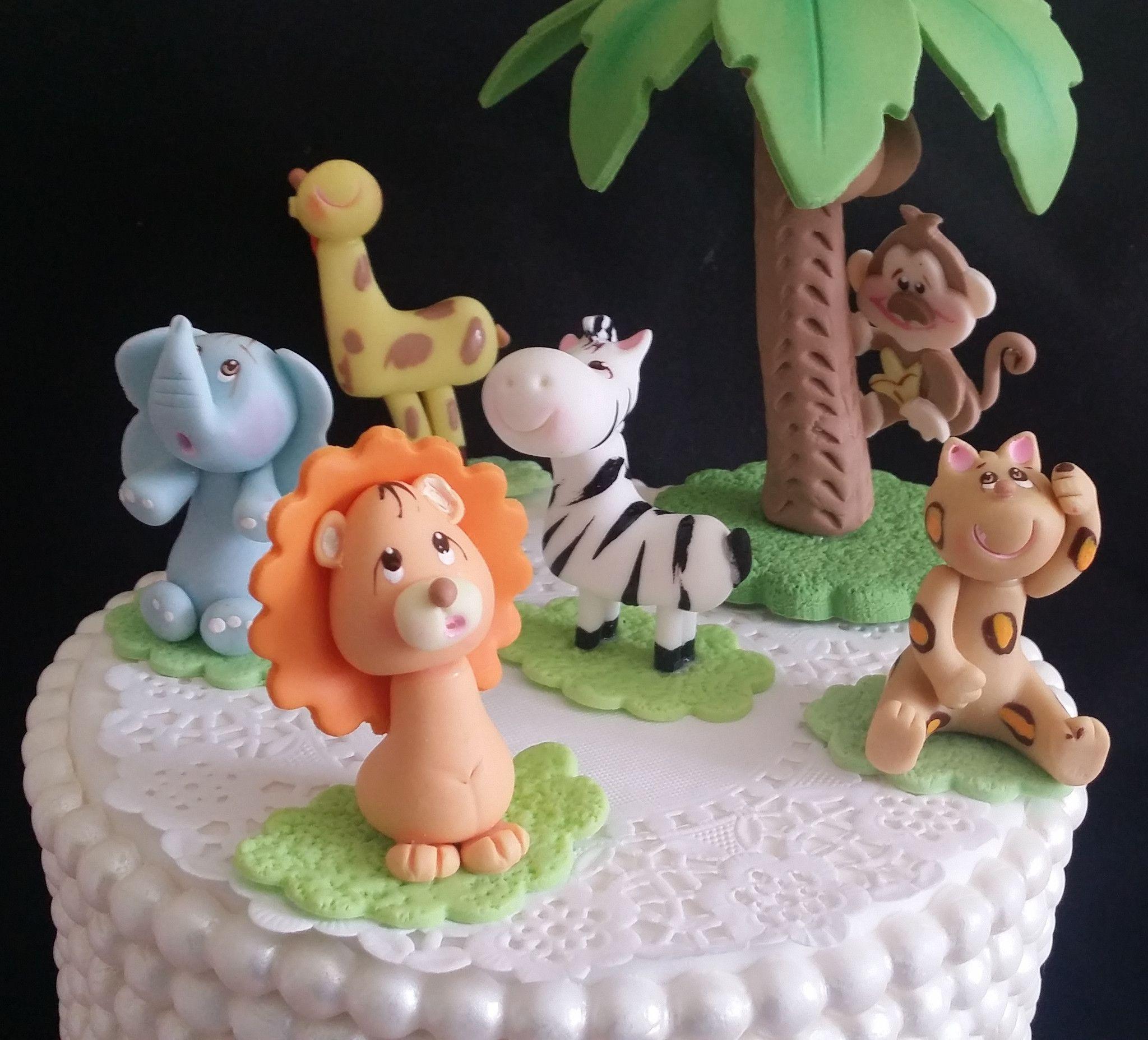Lion Birthday Decorations Jungle Safari Cake Toppers