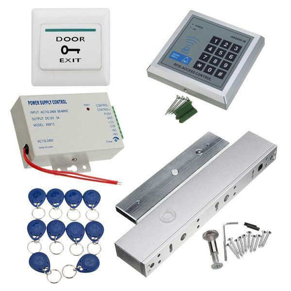Tarjeta RFID Kit de control de acceso de la puerta completa con el ...
