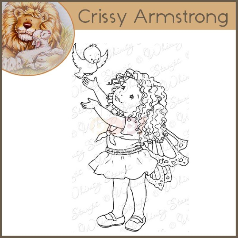 Whimsy Crissy Armstrong Rubber Stamp - First Flight