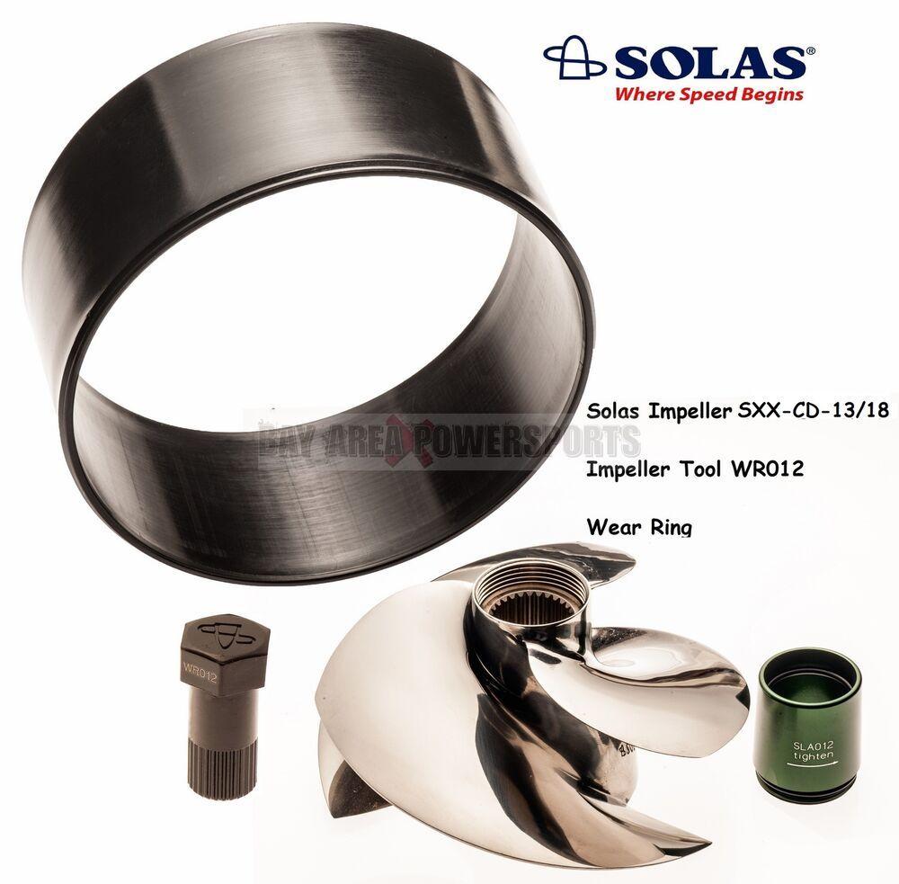 eBay #Sponsored Solas Sea Doo 300 HP Impeller W/ Wear Ring & Tool 13