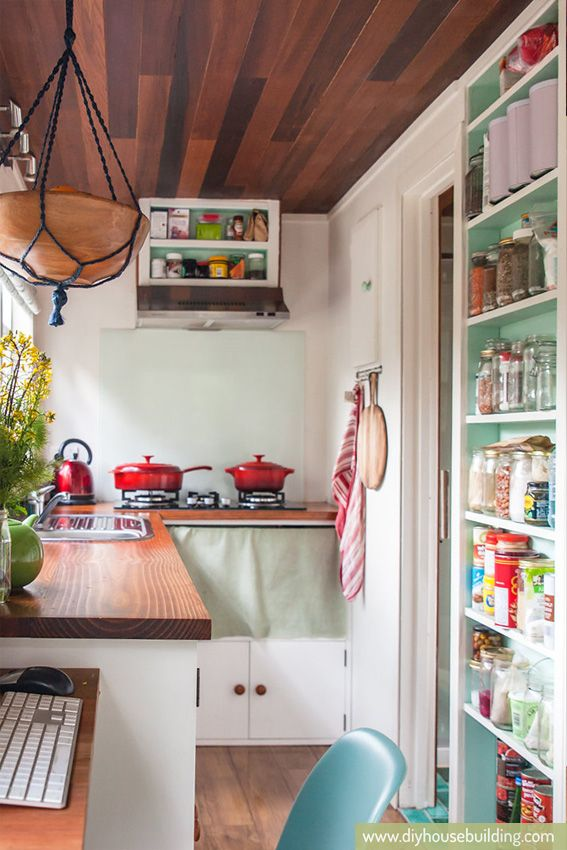 beautiful functional kitchen via how to build a tiny house tiny homes - Tiny House Kitchen 2