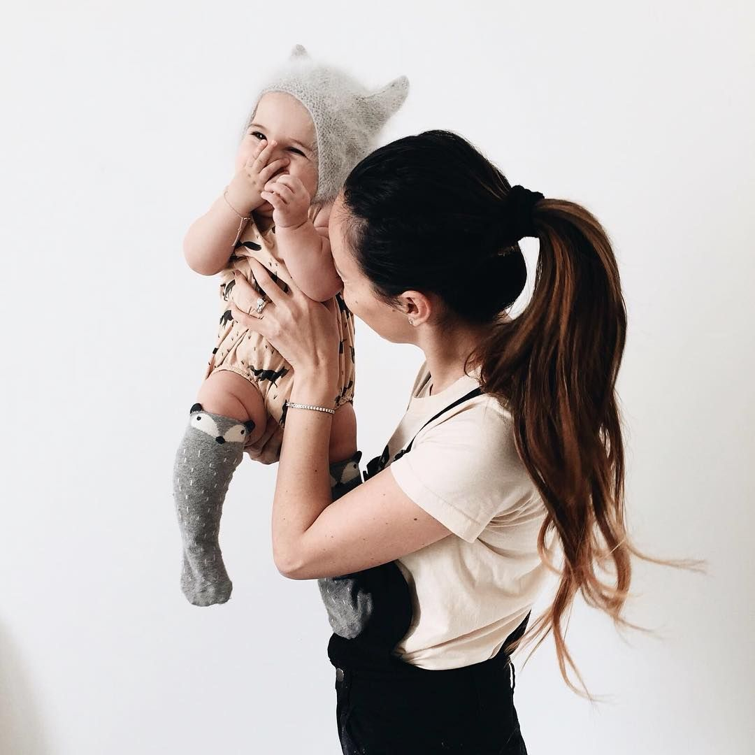 """""""Give me all those sweet giggles baby girl ! Little V has her first teeth cutting through and she's been so cuddly lately , not that I mind one bit let me…"""""""