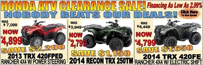 Honda ATV Clearance Sale Monster trucks, Atv, Clearance sale