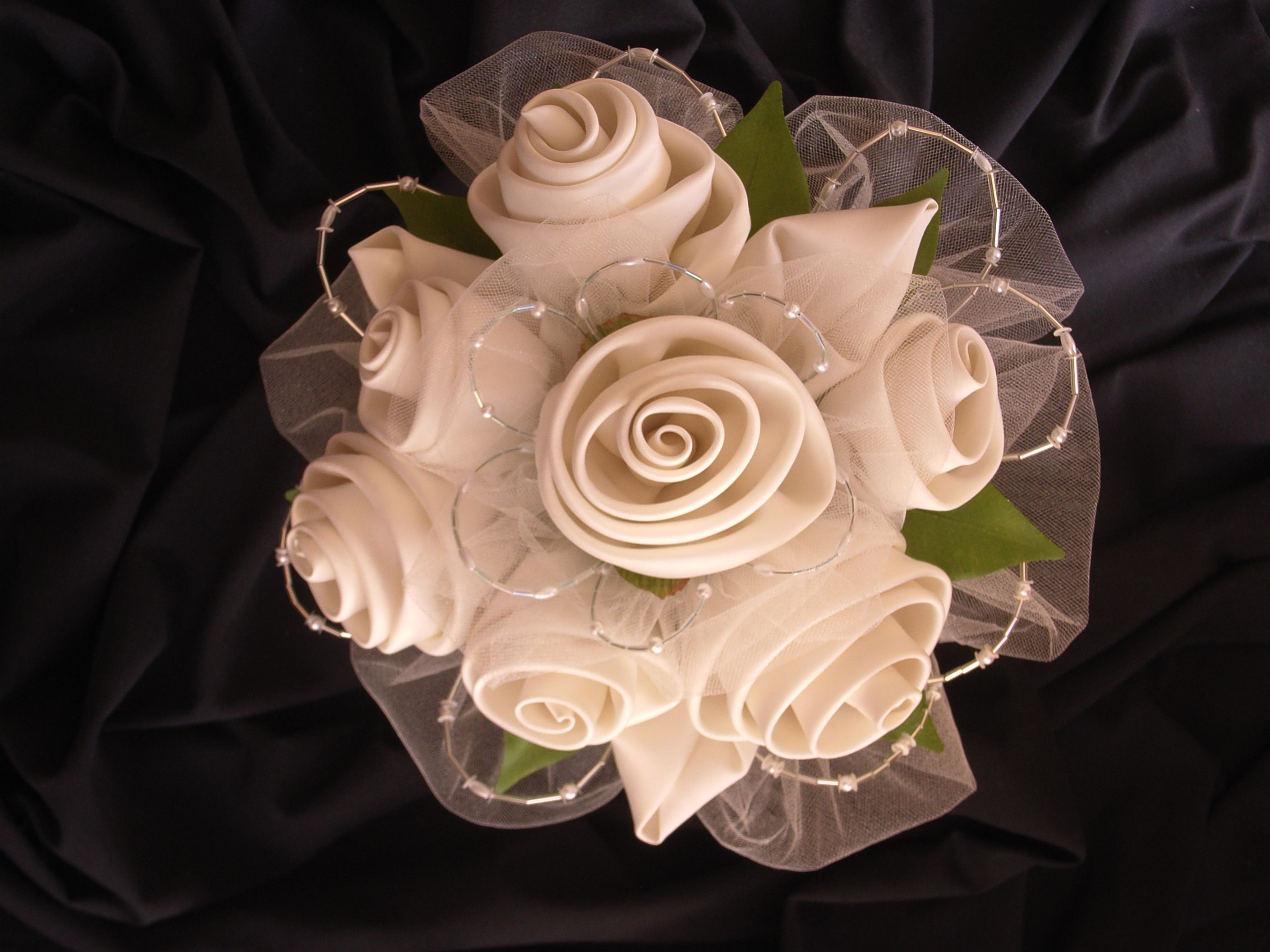 Love The Idea Of Mixing Tulle Beads Minus The Satin Flowers