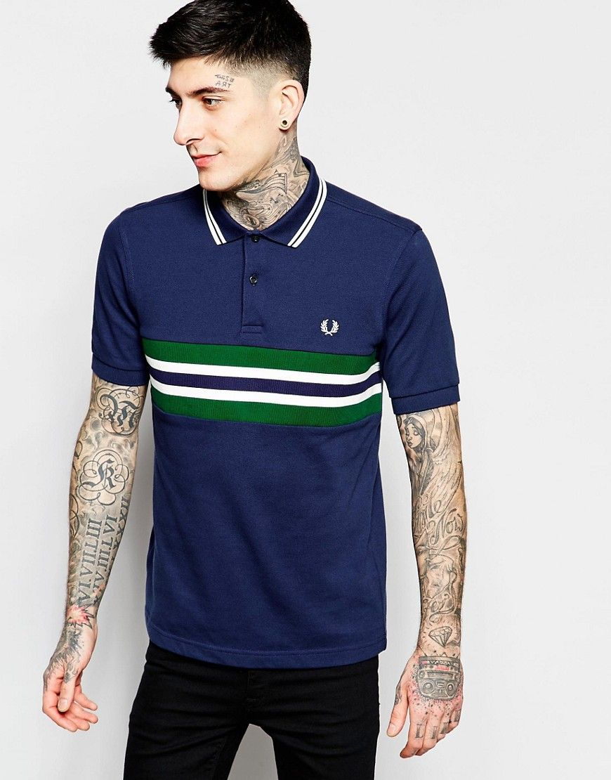 Shop Fred Perry Polo Shirt with Chest Band Slim Fit at ASOS.