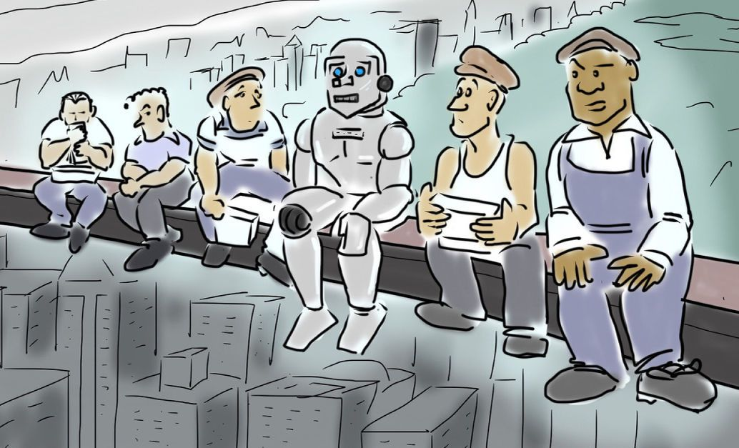Robots Replacing NonSkill Labor. Robot, Bear scouts