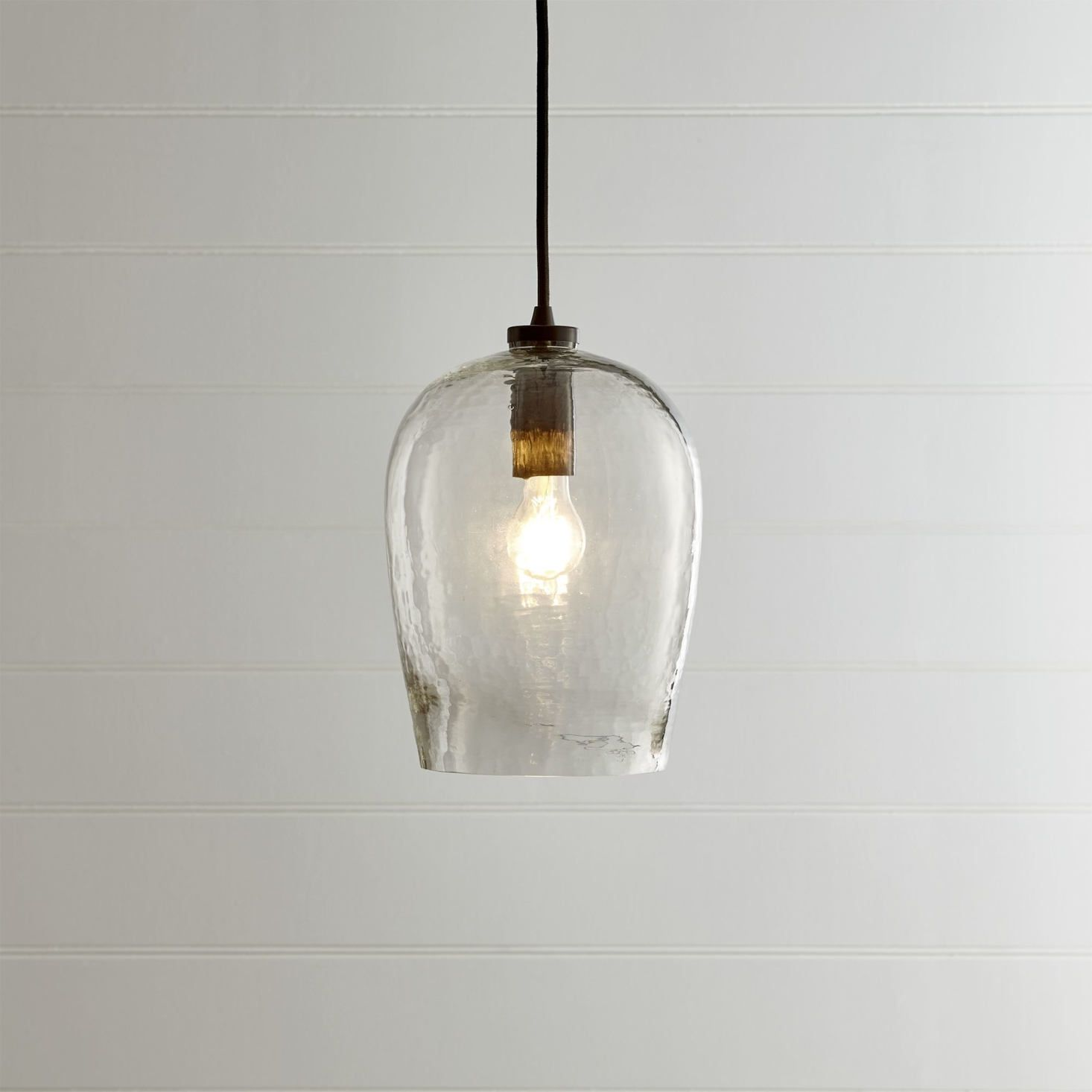 High Low Glass Bell Shaped Pendant Remodelista Glass Pendant Light Pendant Light Blown Glass Pendant Light Clear glass pendant lights