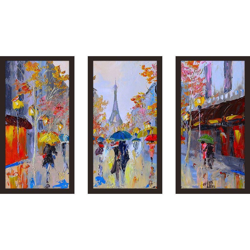 FramedCanvasArt.com  Paris Stroll  Framed Plexiglass Wall Art ...  sc 1 st  Pinterest & FramedCanvasArt.com