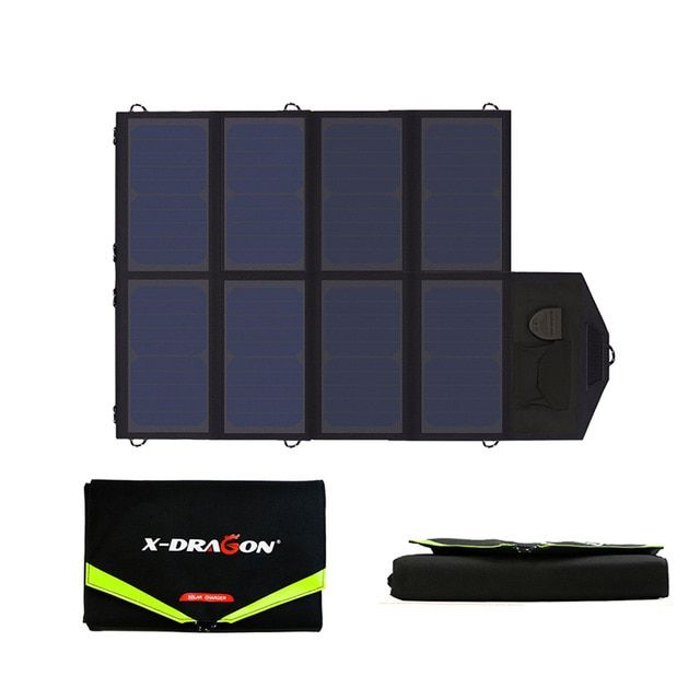 Solar Panels 40w 5v 12v 18v For Iphone Ipad Macbook Acer Huawei Xiaomi Samsung Htc Lg Hp Asus Dell And Solar Panel Charger Solar Charger Portable Solar Charger