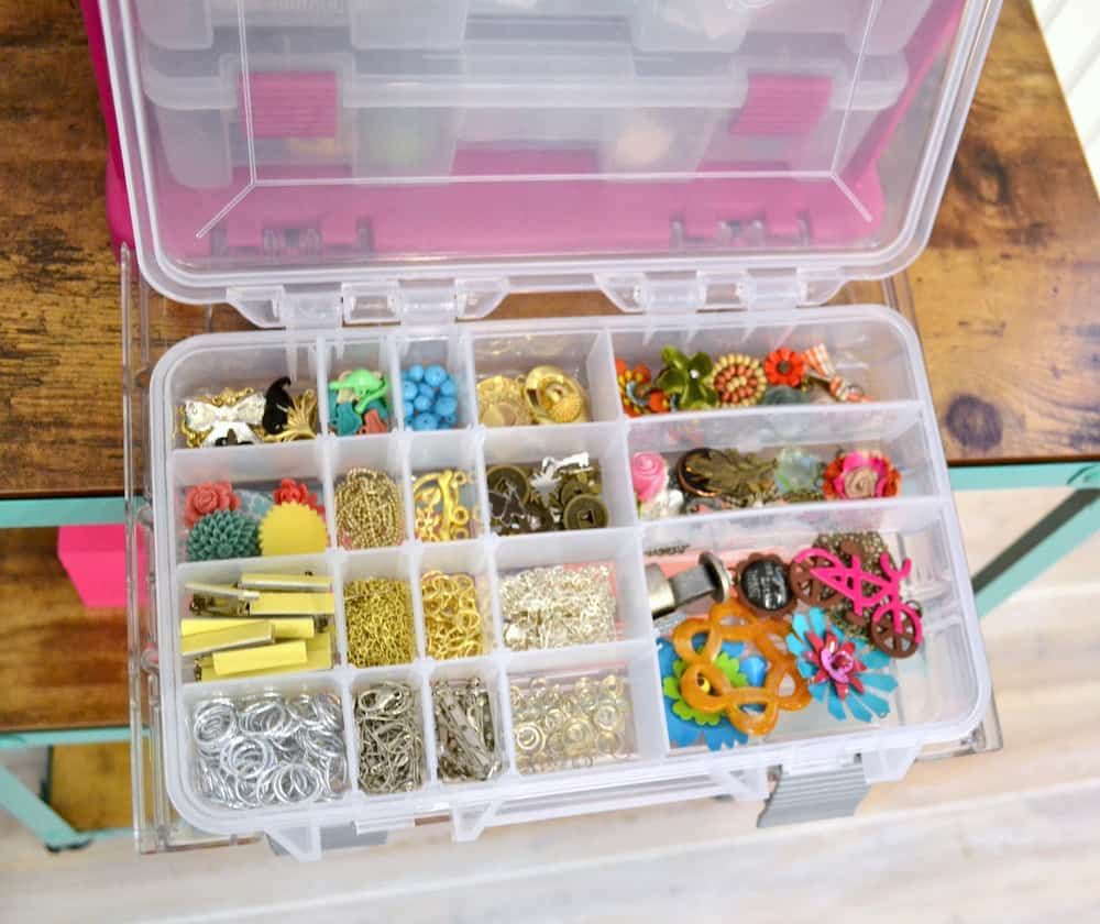 5 Tips for Organizing Jewelry Supplies   Organize craft ...