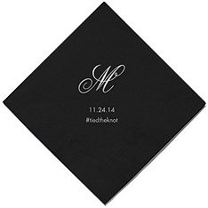 Personalized Napkins - BEVERAGE (Monogram) cocktail hour and bar