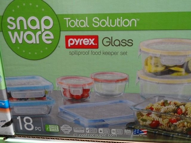 Snapware Pyrex Glass Food Storage Set, Glass Food Containers Costco