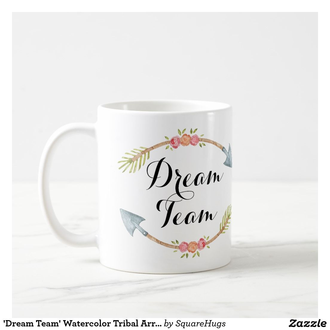 Dream Team Watercolor Tribal Arrows Coffee Mug Zazzle Com Dream Team Mugs Coffee Mugs