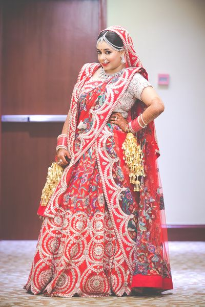 Red Bridal Lehenga White And Dupatta Anamika Khanna Kaleere Plus Size Bride