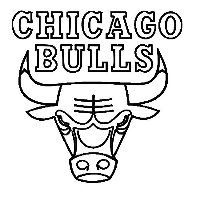 Chicago Bulls Coloring Page Coloring Pages Pinterest