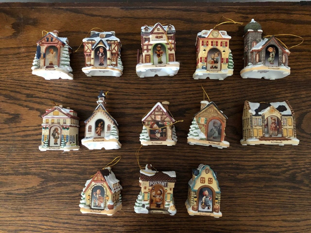 Mi Hummel Christmas Ornaments 2020 Hummel Ornaments Christmas Bavarian Village Ornaments 1999 | Etsy