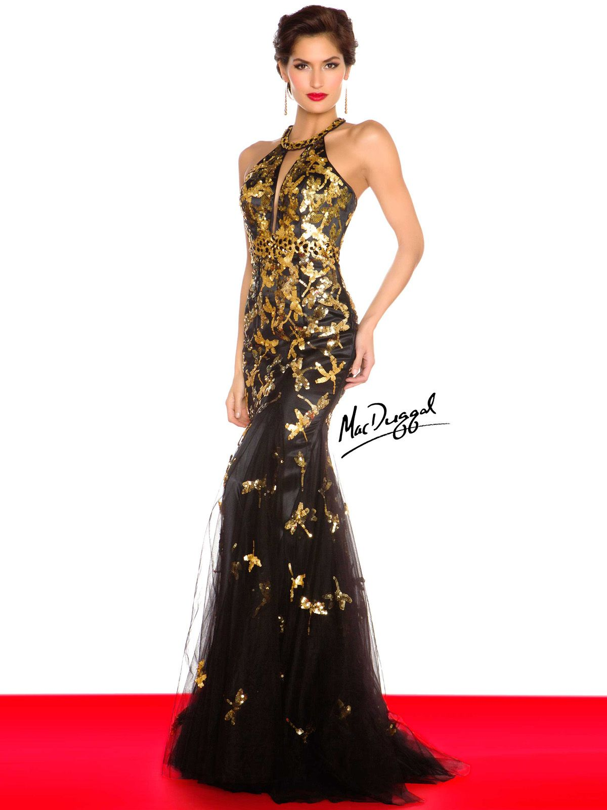 Black and Gold Evening Dresses Dresses