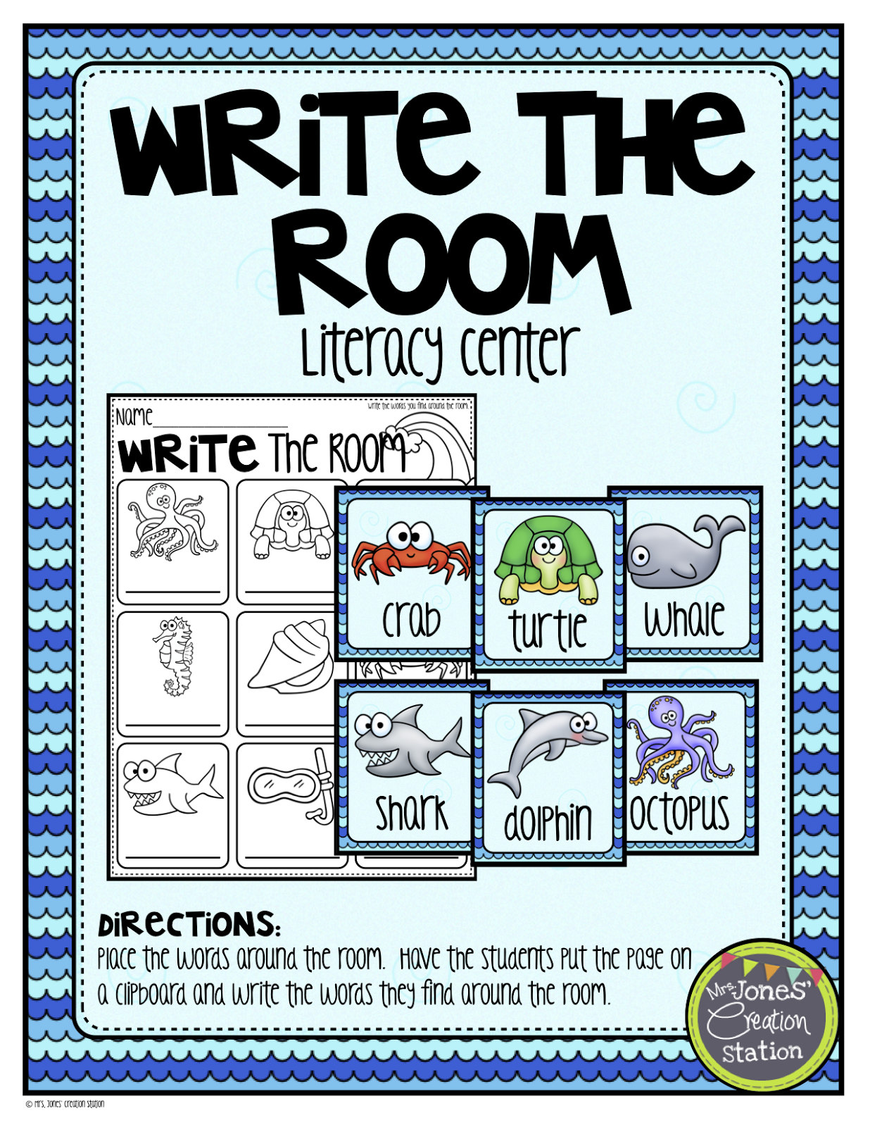 Under The Sea Literacy Math And Science Activities